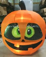 Gemmy Prototype Halloween Inflatable Pumpkin Head With Moving Eyes 1