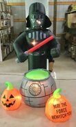Gemmy Prototype Halloween Inflatable Star Wars Darth Vader With Cauldron