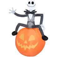 Airblown Inflatable Jack Skellington on pumpkin