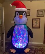 Gemmy Prototype Christmas Penguin Inflatable Airblown