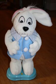Gemmy musical animated singing dancing bunny sings peter cottontail