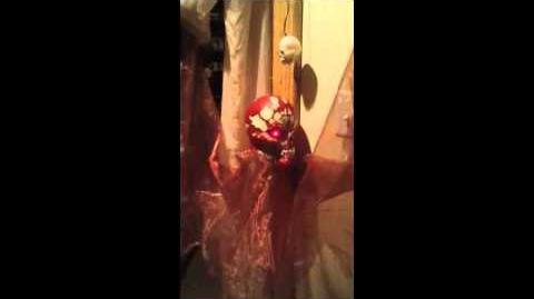 Gemmy floating zombie skull