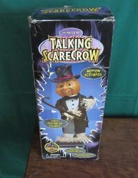 Gemmy Animated Singing ''Puttin' On The Ritz'' Scarecrow Halloween Prop 18'' w box 9