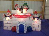 Gemmy inflatable penguins igloo castle