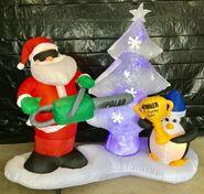 Gemmy Prototype Christmas Inflatable Sculpting Santa