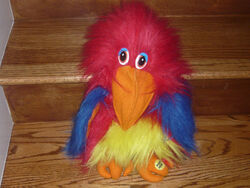 Gemmy repeat parrot plush puppet