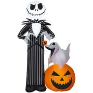 Airblown® Inflatable Jack Skellington with Zero