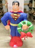 5ft Gemmy Airblown Inflatable Christmas Superman w Wreath Prototype