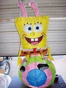AIRBLOWN INFLATABLE 4' EASTER SPONGEBOB ON EGG