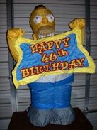 AIRBLOWN INFLATABLE 4' HOMER SIMPSON 40 BIRTHDAY