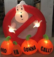 5ft Gemmy Airblown Inflatable Halloween Ghostbusters Logo W Pumpkins Prototype