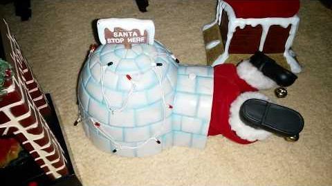 Gemmy Leg Kicking Stuck Santa's