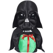 Darth vader with present