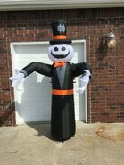 Gemmy Prototype Halloween Inflatable Reaching Ghost