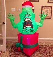 Gemmy Prototype Christmas Ghostbusters Slimer Inflatable Airblown