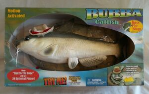 GEMMY COOL BUBBA CATFISH TALKING SINGING FISH Brand New Bass Pro Shops Rare