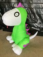 Gemmy Prototype Halloween Inflatable Dog in Costume