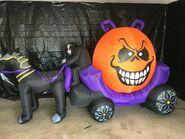 Gemmy Prototype Halloween Inflatable Pumpkin Carriage