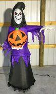 Gemmy Prototype Halloween Inflatable Reaper With Pumpkin