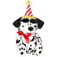 Expression of joy birthday dalmatian