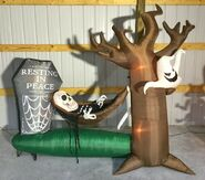 Gemmy Prototype Halloween Inflatable Skeleton Hammock