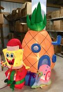 7ft Gemmy Airblown Inflatable Christmas Spongebob w Pineapple House Prototype
