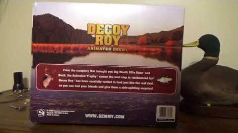 "Gemmy Animated ""Decoy Roy"" The Talking Duck"