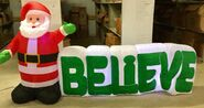 9ft Gemmy Airblown Inflatable Christmas Santa w Believe Sign Prototype