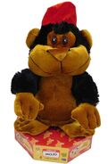 Gemmy Animated Mojo The Movin' Monkey Spins & Dances Musical Ape Plush Pal