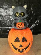 Gemmy Prototype Halloween Inflatable Raccoon In Pumpkin 1