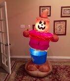Gemmy Prototype Halloween Pumpkin Scarecrow Inflatable Airblown