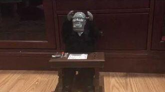 Gemmy Halloween Animated Monster At Desk (WORKING)