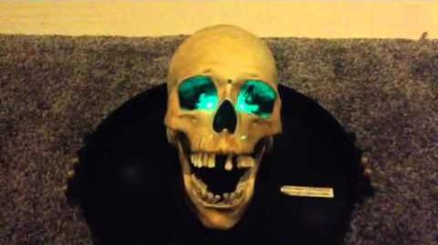 Gemmy animated skull on a platter