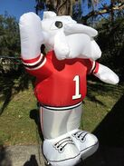 UNIVERSITY AIRBLOWN COLLECTION Georgia Bulldogs 8' INFLATABLE MASCOT Hairy
