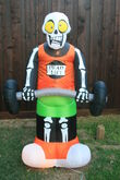Gemmy inflatable dead lift skeleton