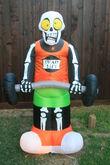 Gemmy inflatable dead lift skeleton