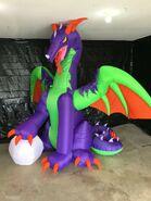 Gemmy Prototype Halloween Inflatable Dragon