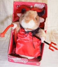 DANCING SINGING HAMSTER DEVIL IN A RED DRESS GEMMY NEW!