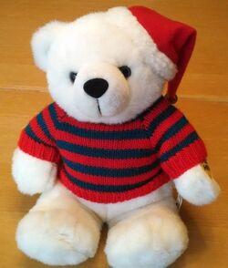 Gemmy Animated Dancing 9'' Soft Plush Christmas Bear - Dances to Jingle Bell Rock