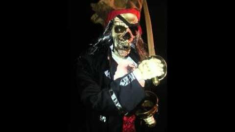 Gemmy Dead Eye Drake Skeleton Pirate