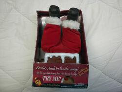 1999 Gemmy animated santa stuck in chimney