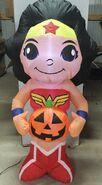 5ft Gemmy Airblown Inflatable Halloween Wonder Woman Holding Pumpkin Prototype