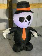Gemmy Prototype Halloween Inflatable Attitude Skeleton