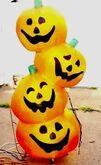 Gemmy inflatable pumpkin stack