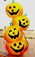 Gemmy inflatable pumpkin stack