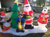 Gemmy 10ft long Airblown santa and friends christmas band