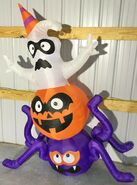 Gemmy Prototype Halloween Inflatable Ghost, Pumpkin, And Spider