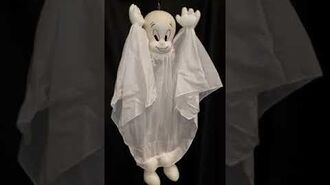 Gemmy Hanging Shaking Casper Halloween Decoration 1998