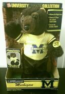 MICHIGAN WOLVERINE 2001 UNIVERSITY MASCOTS COLLECTION NIB JCPENNEY EXCLUSIVE
