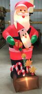 7ft Gemmy Airblown Inflatable Christmas Santa Gardening Candy Canes Prototype